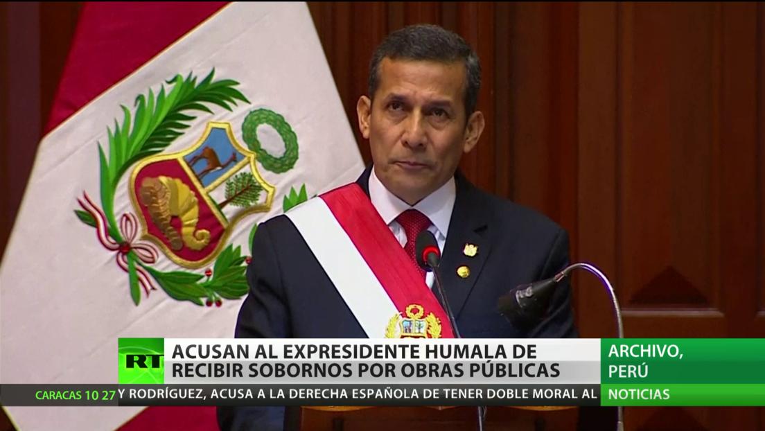 Acusan al expresidente de Perú Humala de recibir sobornos por las obras públicas