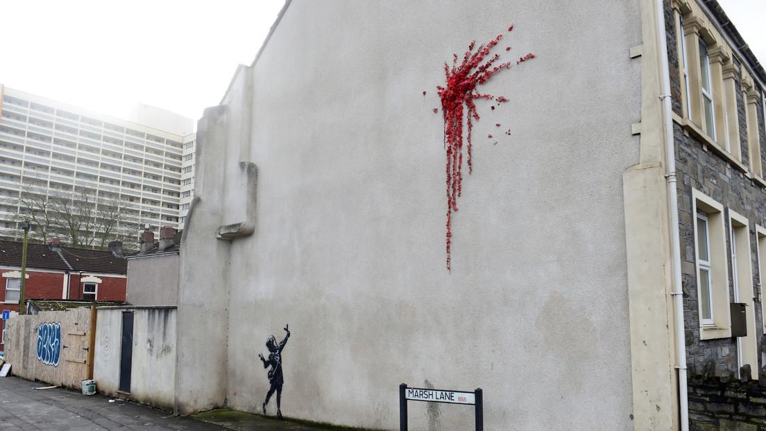 La nueva obra de Banksy solo duró dos días