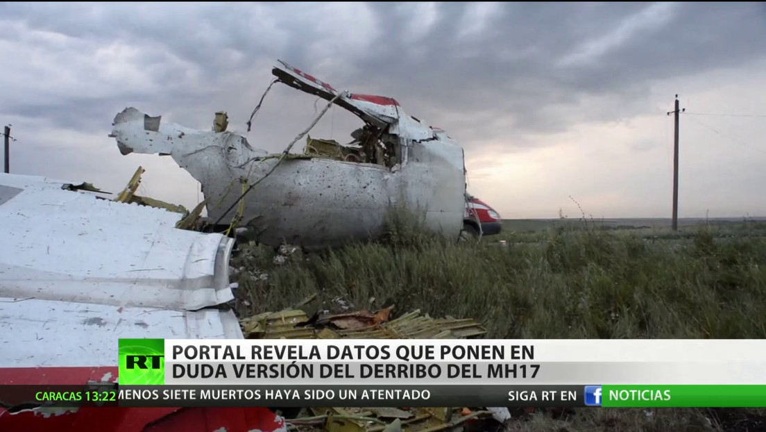 Un portal revela datos que ponen en duda la versión del derribo del avión MH17 de Malasia Airlines