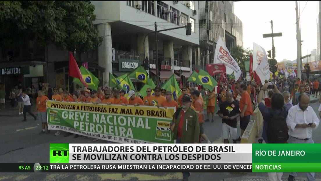 Trabajadores del sector petrolero se movilizan contra los despidos en Río de Janeiro