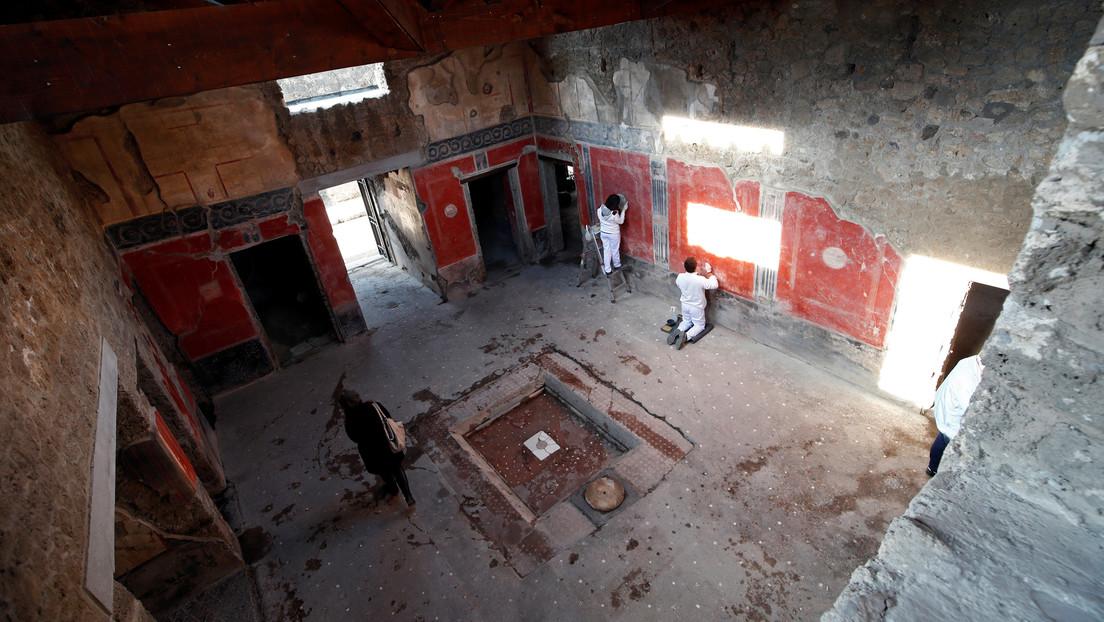 Reabren la Casa de los Amantes en Pompeya 40 años después de que la destruyera un terremoto (FOTOS)
