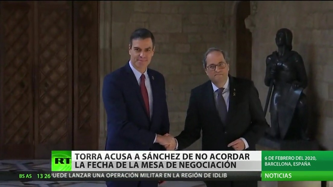 España: Torra acusa a Sánchez de no acordar la fecha de la mesa de negociación