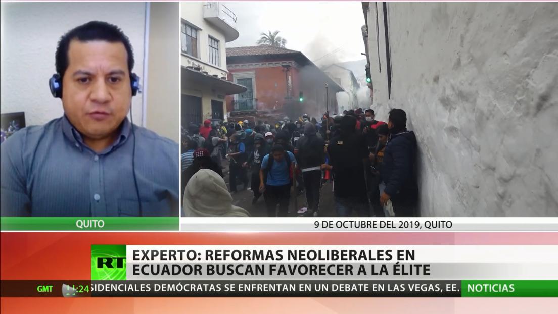 Experto: Reformas neoliberales en Ecuador buscan favorecer a la élite