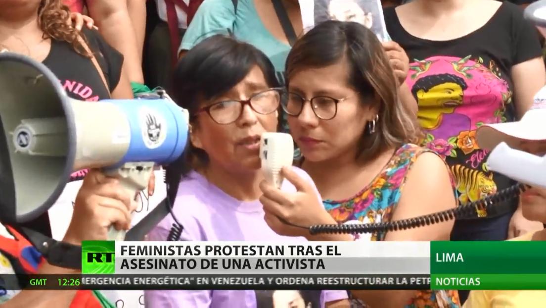 Feministas protestan en Perú por la muerte de una activista y la ineficaz investigación de la Policía