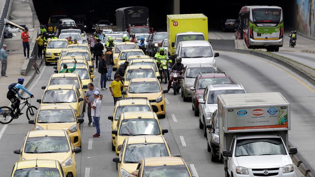 Después de una suspensión de 20 días, Uber regresa a Colombia y desata nuevas protestas de los taxistas