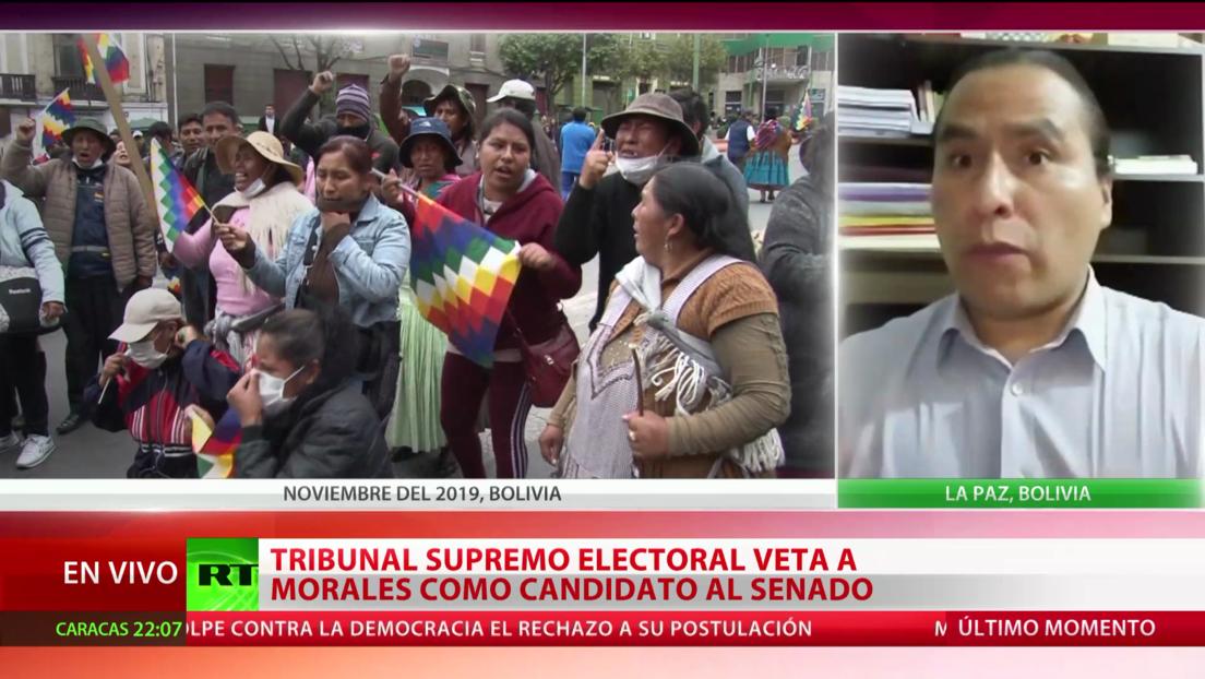 """Experto: El veto del Tribunal Supremo Electoral contra Morales es """"una decisión altamente política"""""""