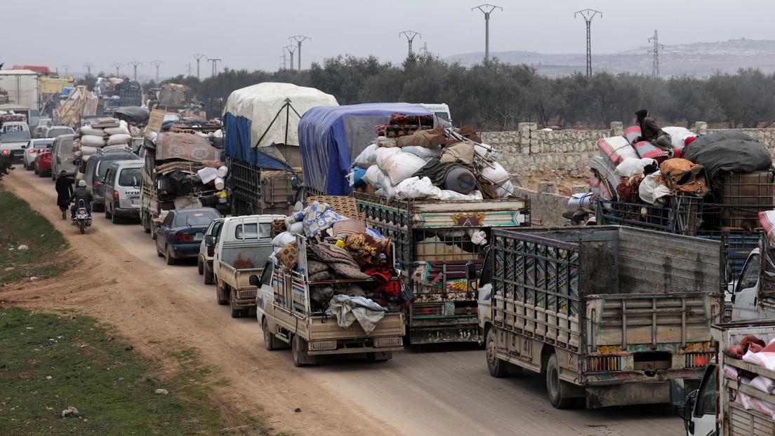 """Rusia: No hay nada que confirme que """"cientos de miles"""" de civiles se dirijan hacia la frontera turca desde Idlib"""