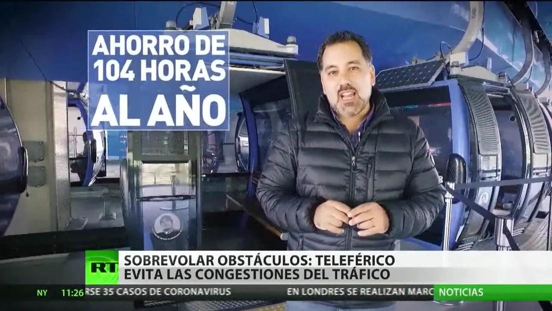 Cómo un teleférico ayuda a evitar los atascos en Bolivia
