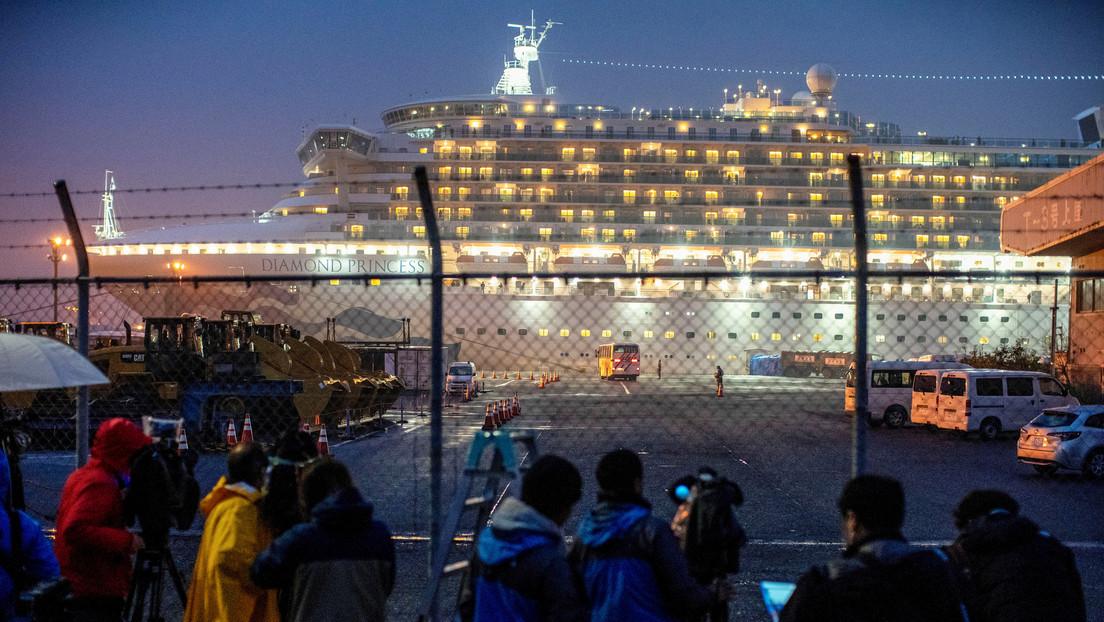 Desembarcan del crucero Diamond Princess 23 personas sin someterse a las pruebas de coronavirus durante la cuarentena