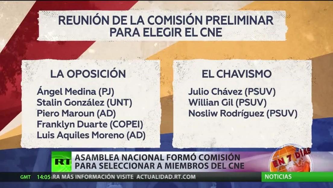 Asamblea Nacional de Venezuela forma una comisión para seleccionar a los miembros del Consejo Electoral