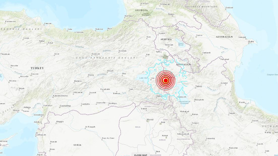 Un nuevo sismo de magnitud de 6 se registra en la frontera turco-iraní