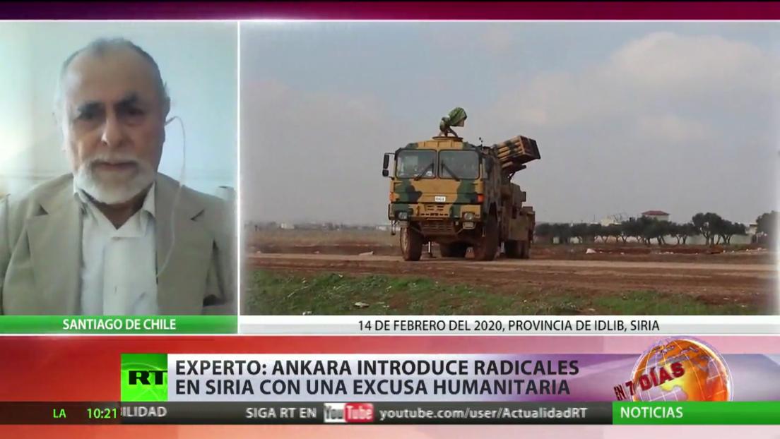 Experto: Ankara introduce radicales en Siria con una excusa humanitaria