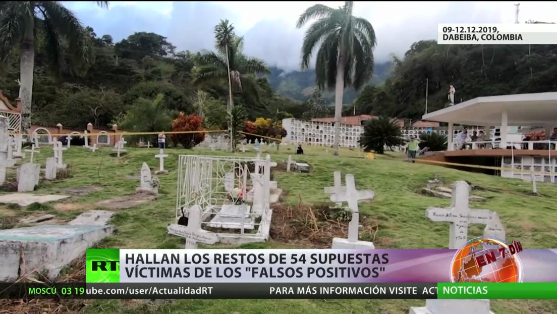 """Hallan los restos de 54 supuestas víctimas de los """"falsos positivos"""" en Colombia"""