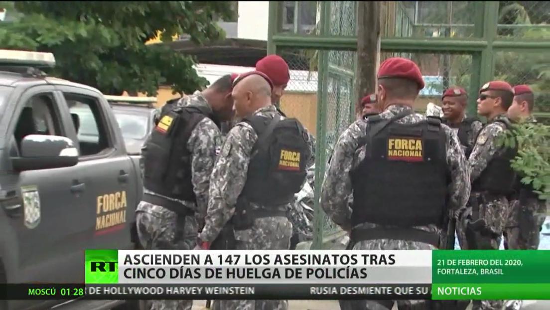 Ascienden a 147 los asesinatos tras cinco días de la huelga de policías en Brasil
