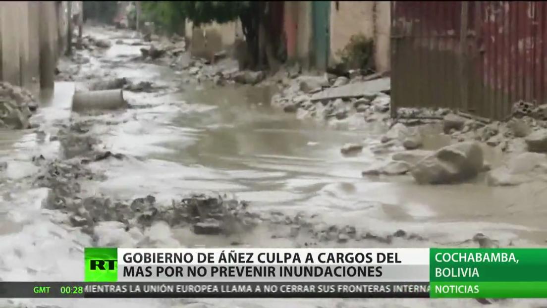 El Gobierno autoproclamado de Bolivia culpa a las exautoridades del MAS por no prevenir las inundaciones