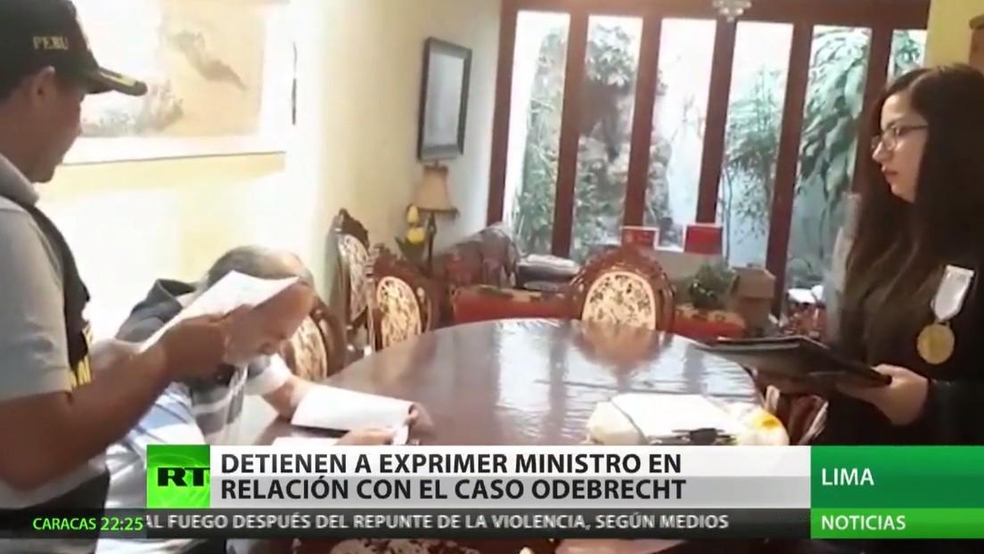 Perú detiene a un ex primer ministro en relación con el caso Odebrecht