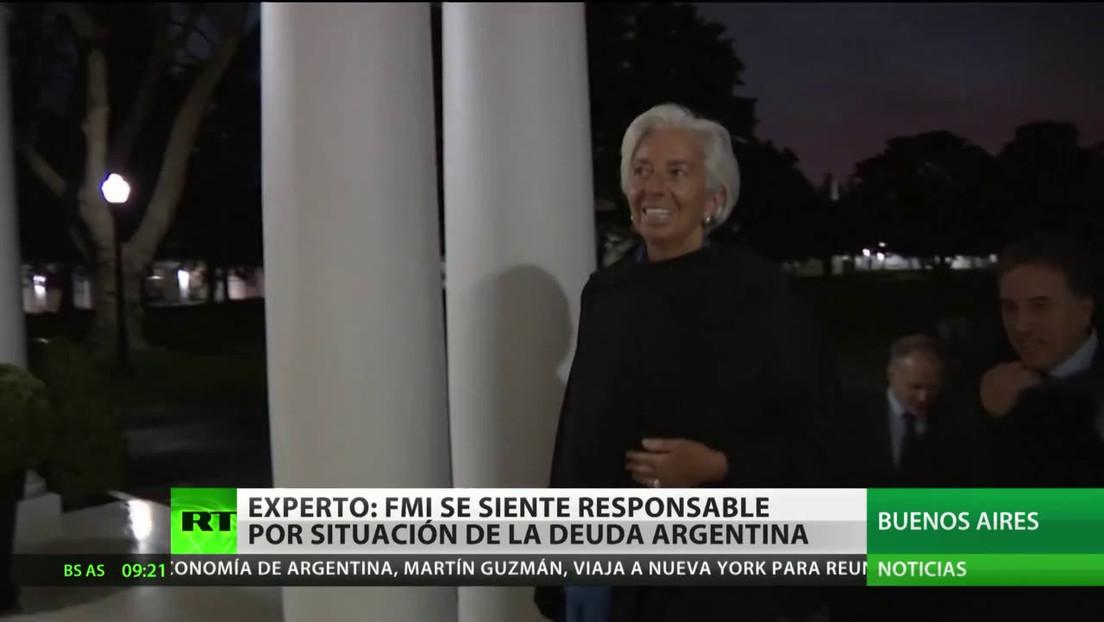 Experto: El FMI se siente responsable por el estado de la deuda de Argentina