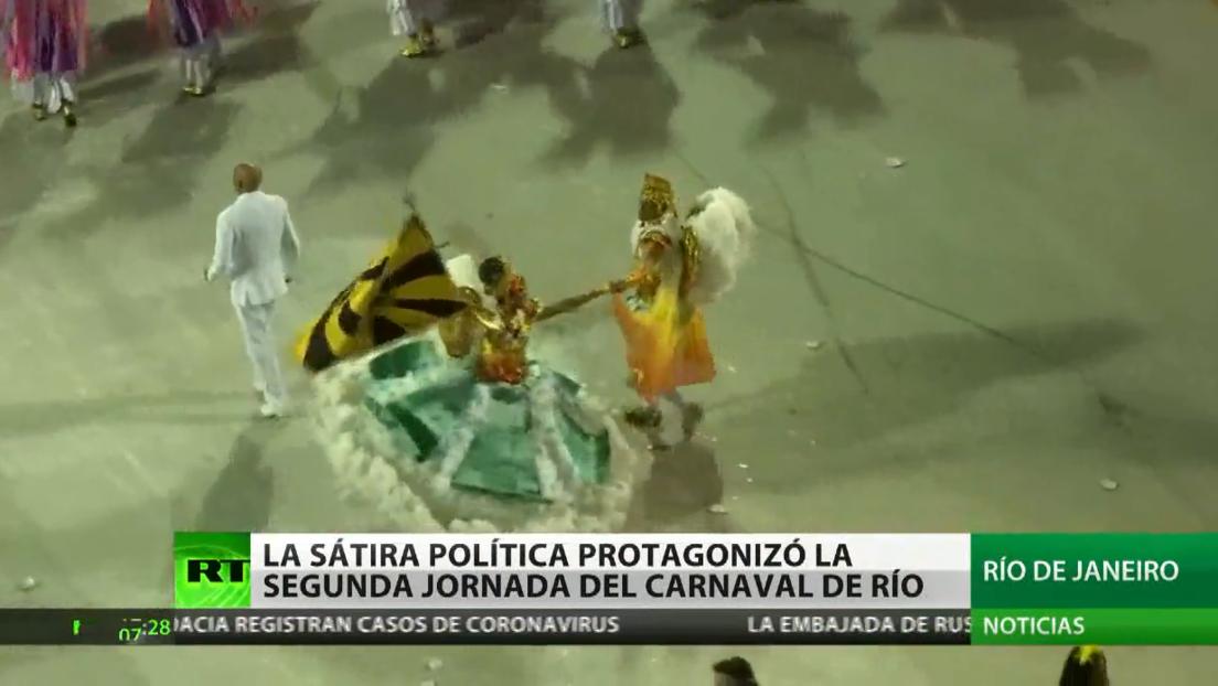 La sátira política protagoniza la segunda jornada del Carnaval de Río
