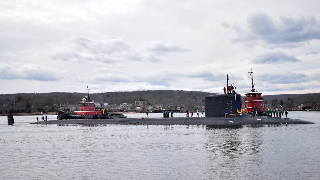 Un avanzado submarino nuclear de ataque de EE.UU. pierde su revestimiento en su primera misión