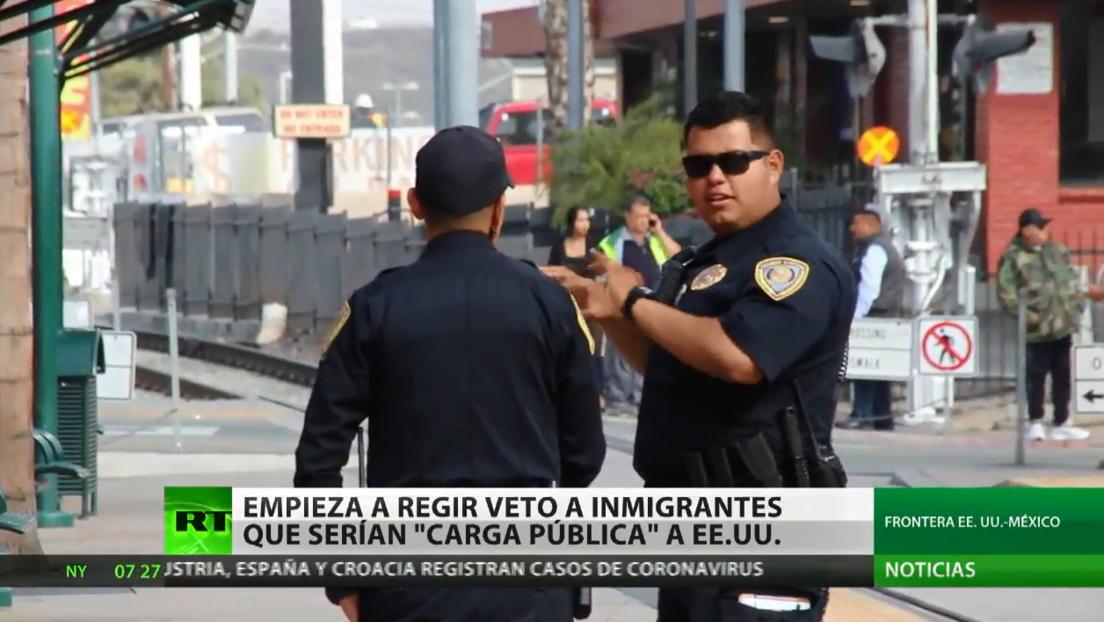 Entra en vigor el veto a inmigrantes que serían una 'carga pública' para EE.UU.