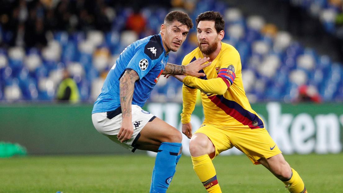 Nápoles y Barcelona empatan por la mínima en los octavos de final de la Liga de Campeones