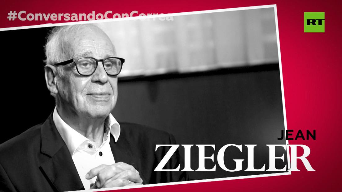 """Jean Ziegler a Correa, sobre el hambre en el planeta: """"Los muy ricos se alimentan de la sangre y la carne de los muy pobres"""""""