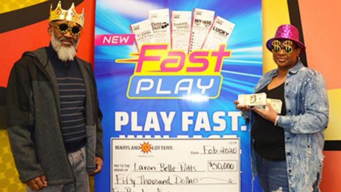 Mujer vuelve a la tienda a comprar unos grisines para su nieto, es tentada con una nueva lotería y gana 50.000 dólares