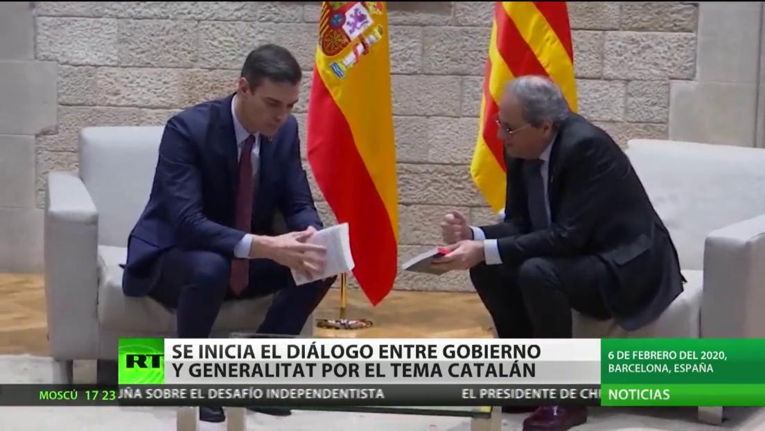 El Gobierno español y la Generalitat de Cataluña inician el dialogo por el tema catalán