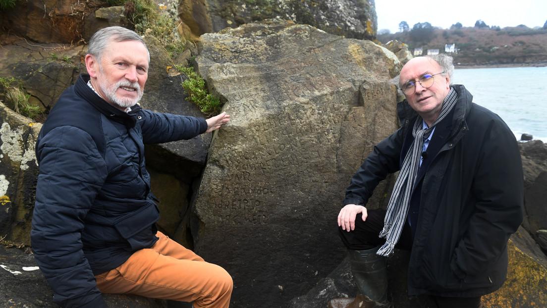 FOTOS: Descifran finalmente la inscripción tallada en una roca hace más de 230 años en Francia