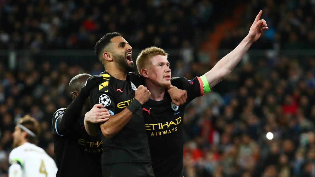 Manchester City vence 2 a 1 al Real Madrid en su casa por los octavos de final de la Liga de Campeones