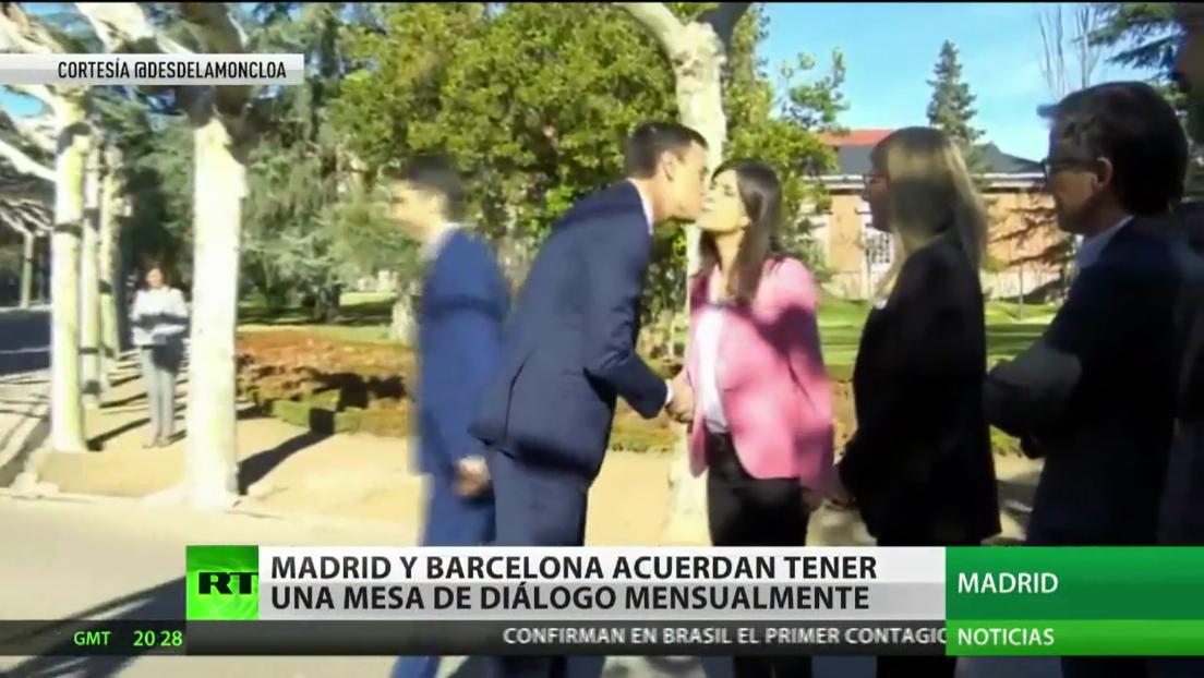 Madrid y Barcelona acuerdan sostener cada mes una mesa de diálogo sobre el tema catalán