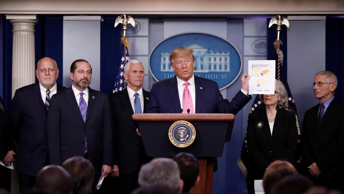 """Trump afirma que EE.UU. está """"muy muy preparado"""" para todo lo relacionado con el coronavirus"""