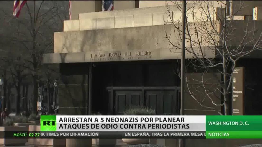 Arrestan en EE.UU. a cinco neonazis por planear ataques de odio contra periodistas
