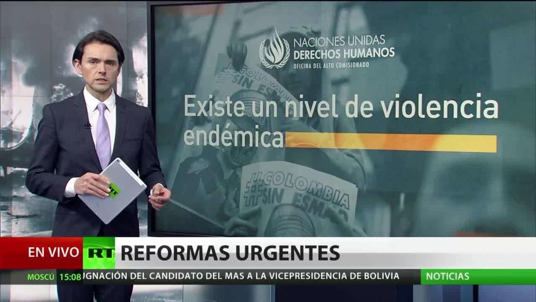 """La ONU califica de """"endémica"""" la violencia en Colombia"""