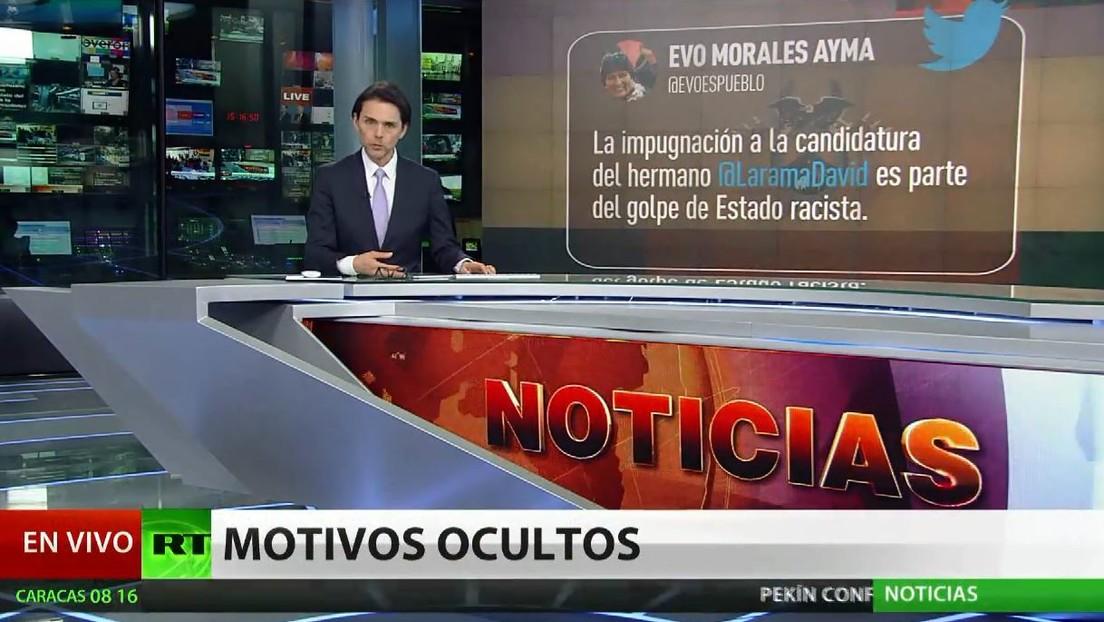"""Morales: """"La impugnación de la candidatura de Choquehuanca prueba la pretensión de proscribir al MAS"""""""