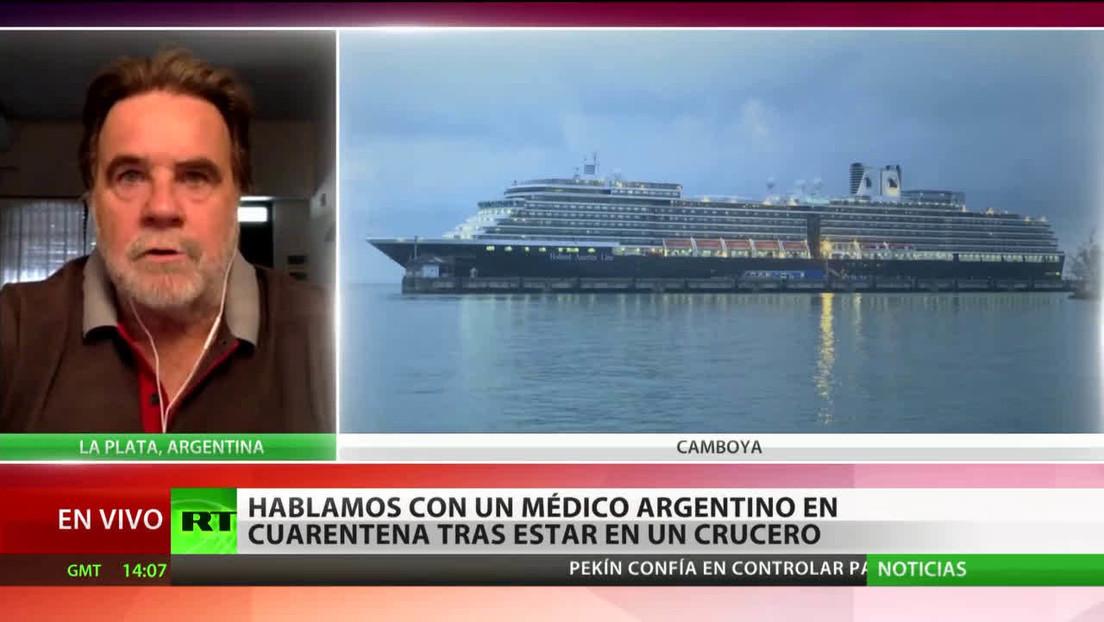 Médico argentino en cuarentena por el coronavirus cuenta su experiencia