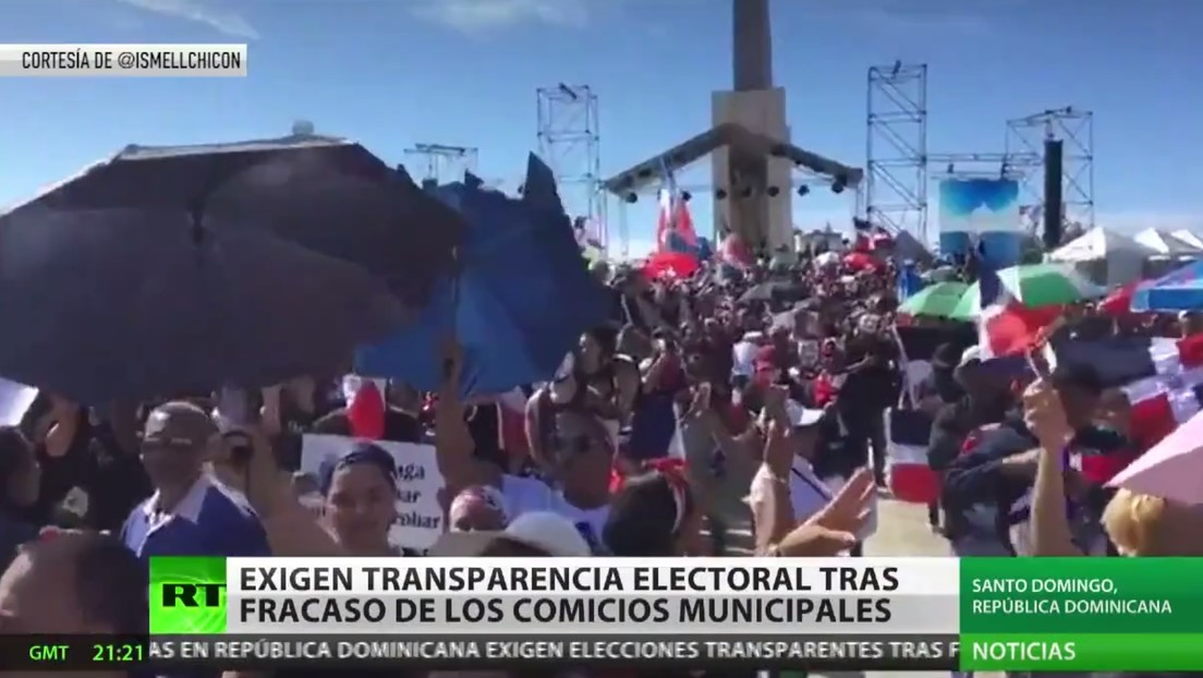 Protestas masivas exigen en República Dominicana transparencia electoral tras fracaso de los comicios municipales
