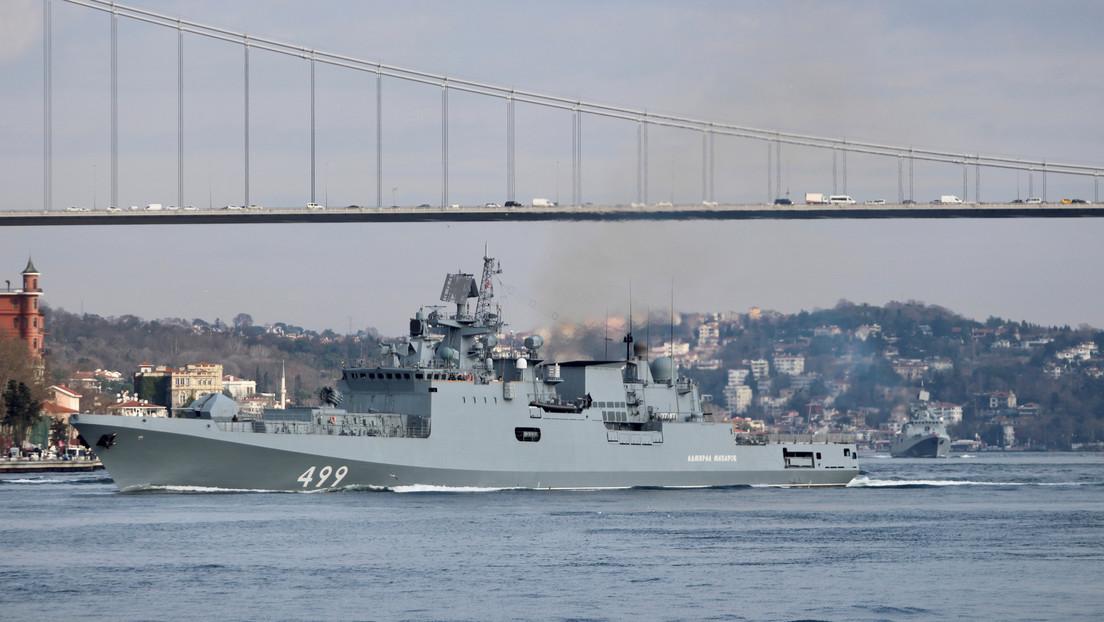 Dos fragatas rusas con sistema de misiles de alta precisión se dirigen al Mediterráneo
