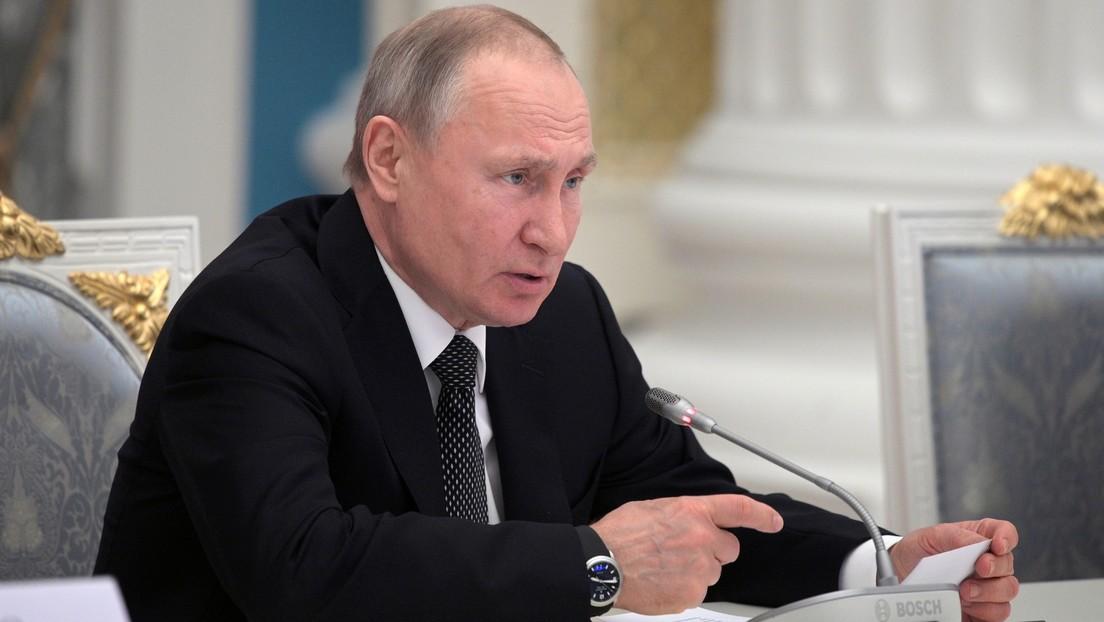Putin propone prohibir que altos cargos de Rusia, incluido el presidente, tengan cuentas bancarias en el extranjero