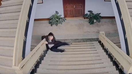 Mareado después de bajar las escaleras