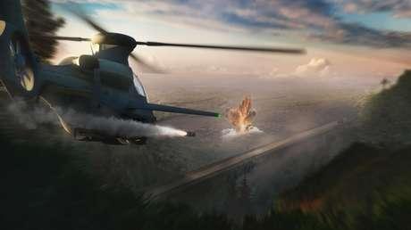 VIDEO: Helicóptero estadounidense 360 Invictus destruye un tanque Armata ruso en un ataque 'publicitario'