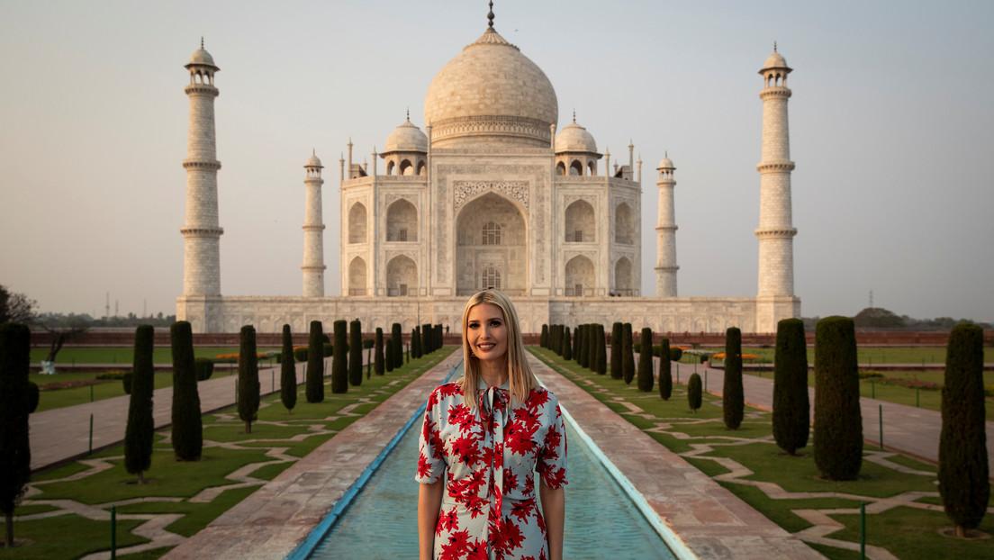 """FOTOS: Indios manipulan imágenes para aparecer junto a Ivanka Trump y esta les agradece por """"la experiencia que nunca olvidará"""""""