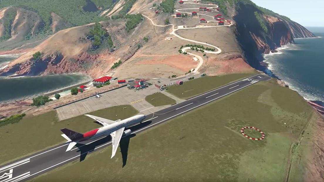 ¿Qué pasaría si un Boeing intenta aterrizar en la pista más corta del mundo? (VIDEO)