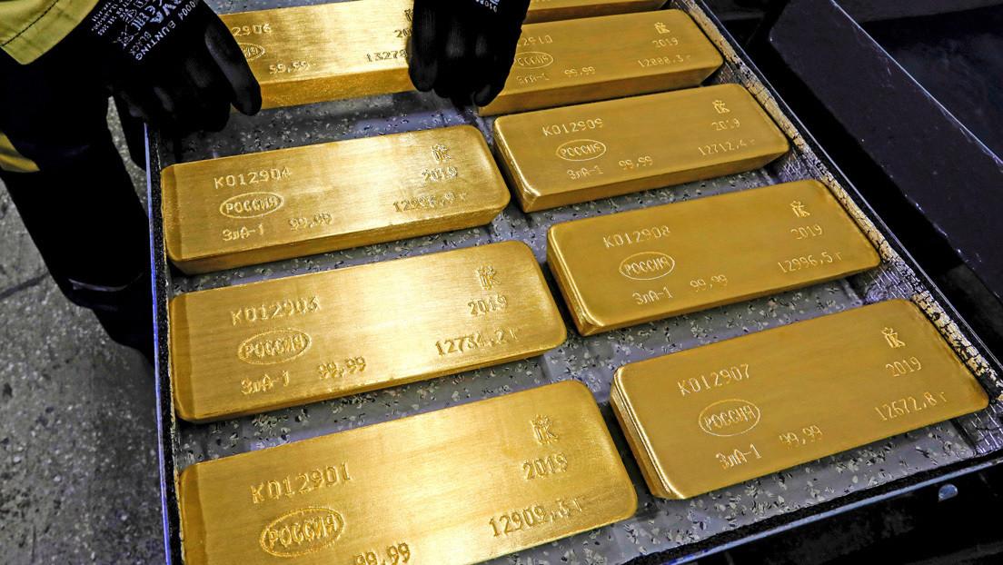 Rusia multiplica por ocho sus exportaciones anuales de oro