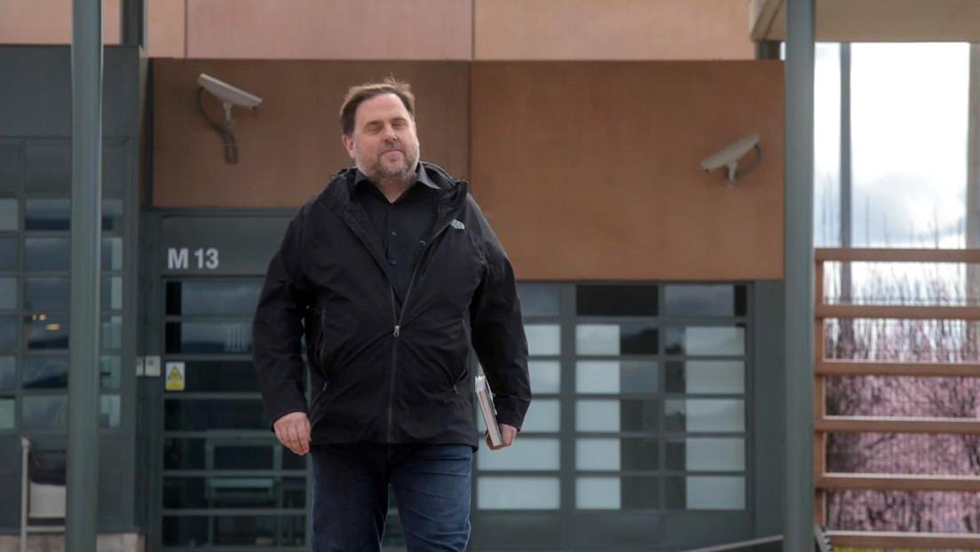 El exvicepresidente de Cataluña Oriol Junqueras sale de prisión para impartir clases en la universidad
