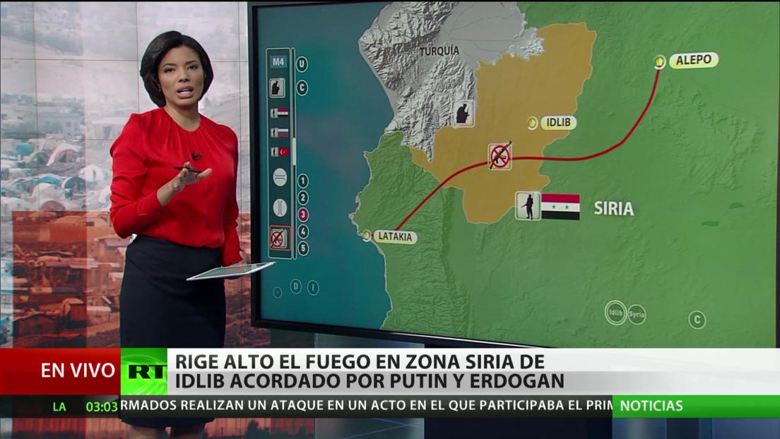Entra en vigor el alto el fuego acordado por Putin y Erdogan para  la ciudad siria de Idlib
