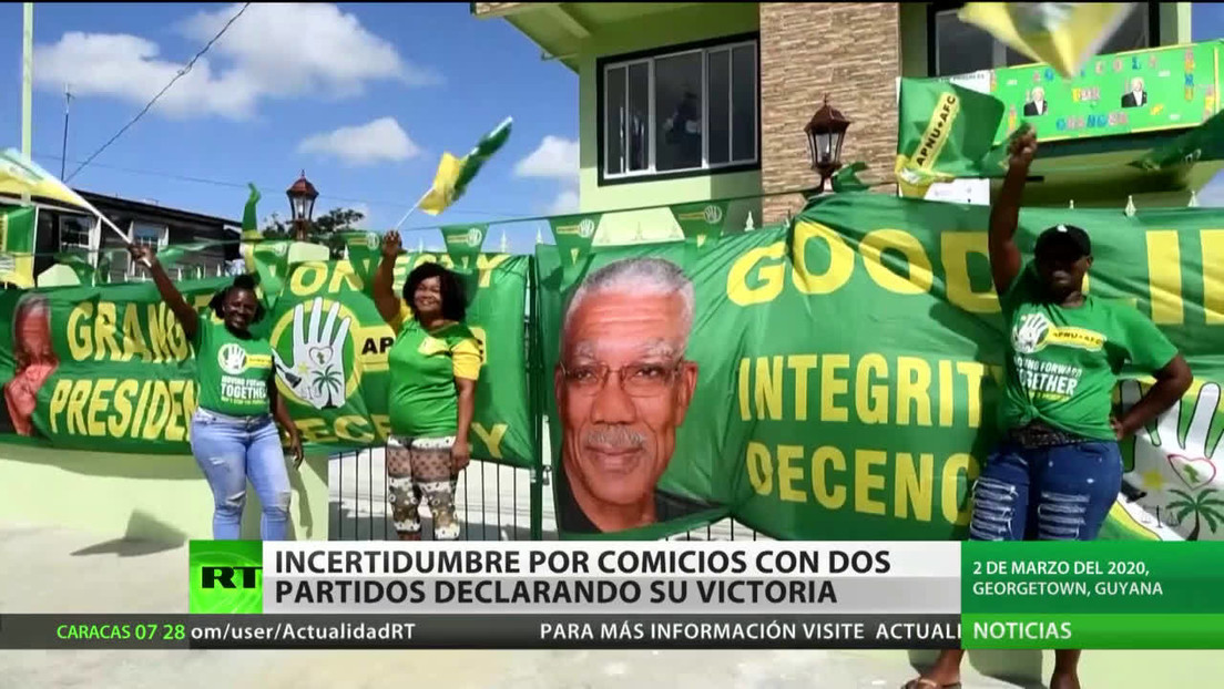 Tensión en Guyana: dos partidos declara su victoria tras los comicios