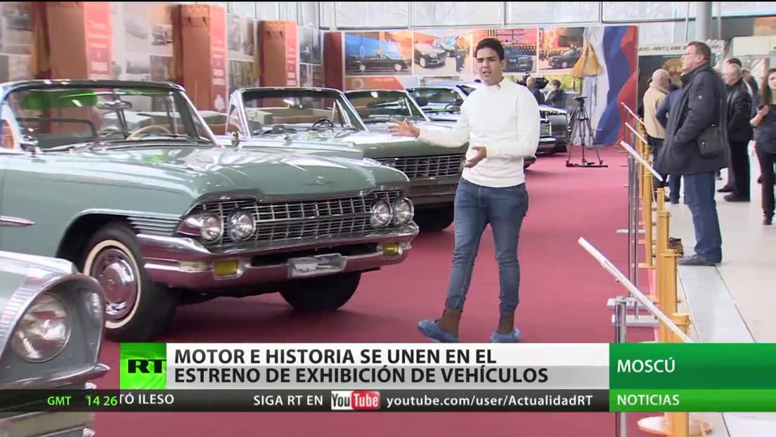 Moscú estrena una exhibición de vehículos clásicos que marcaron la historia de Rusia