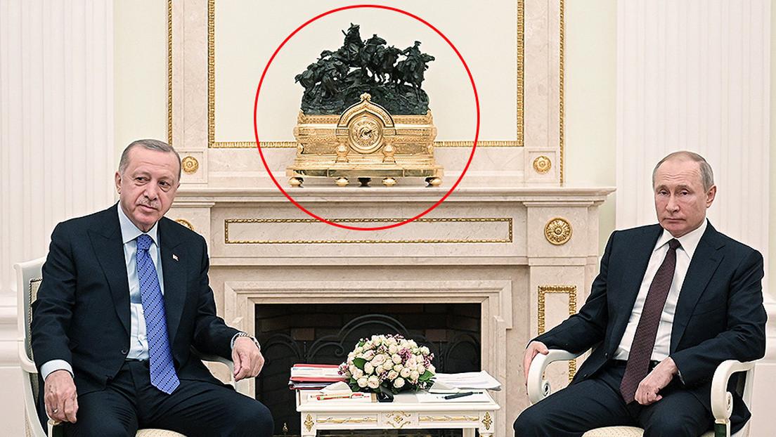 """Pura """"coincidencia"""": portavoz de Putin desmiente el supuesto troleo a Erdogan con escultura histórica"""