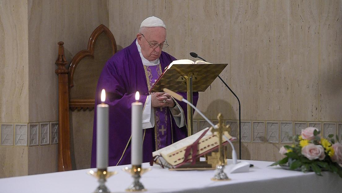 El papa Francisco oficiará una misa por 'streaming' en medio del brote del coronavirus
